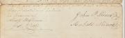 John P and Isabell Minor signature