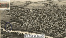 Waynesburg 1897 birds eye image.zoom out