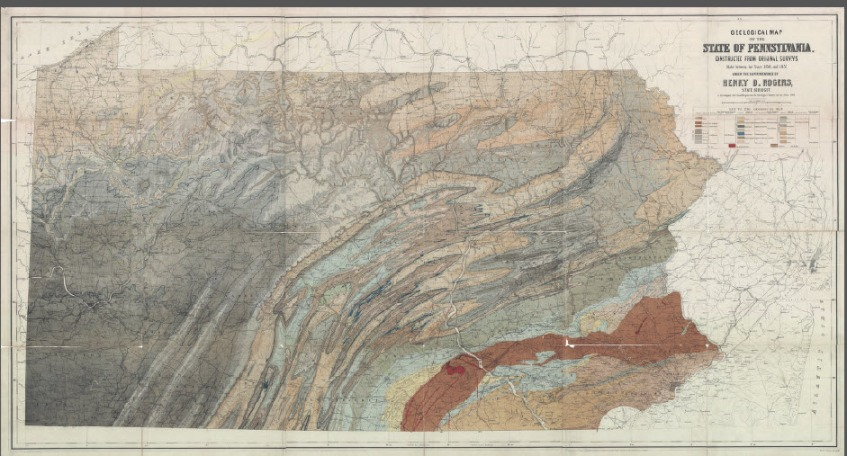 1848 Geologic Map of Pennsylvania