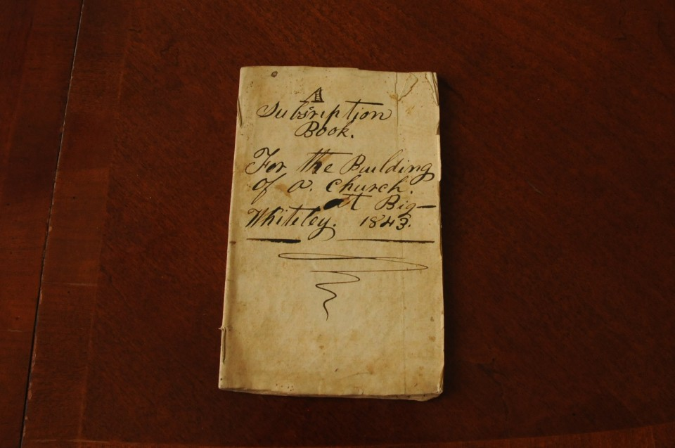 A Subscription Book for the Building of the Goshen Baptist Church 1843