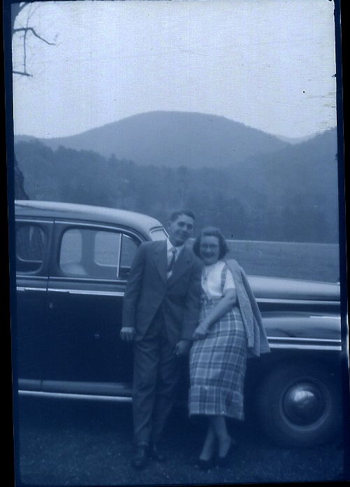Norman S. Strickland (19), with friend