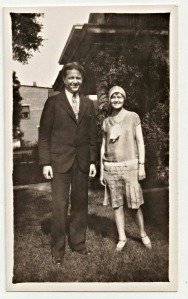 Kerma Bradford, Junior Town supervisor, with Bill Slater, superintendent of Red Path Chautauqua, 1929