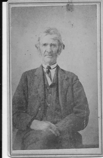 Tin Type of John Pearson Minor, J. P. Shafer of Morgantown, West Virginia, photographer.
