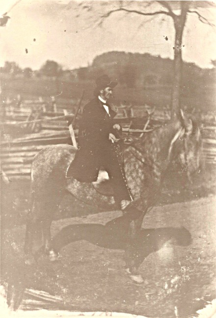 Found among the sheet music of Donald Minor, this photograph bears no identification, of the rider or the photographer.  From the Marilyn Minor Strickland Collection, 2014.