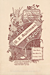 Artwork/Ad on back of the Aultman Studio Photograpsh
