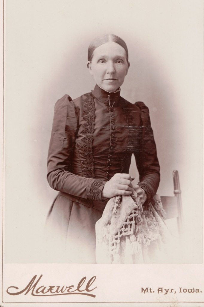 Victorian Lady of Ringgold  County, Iowa, taken by Matthew G. Maxwell, between 1888-1892.