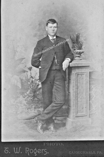 Robert Minor, circa 1888-1890, in TW Rogers studio, Carmichaels (PA)