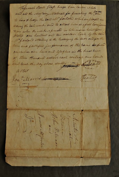 Article of Agreement between John P. Minor and James McFarland, 22 February 1831. Papers of John Pierson Minor, Satchel Collection, D. Kay Strickland Family History Library.