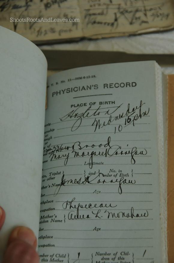 Corrigan State Birth Record