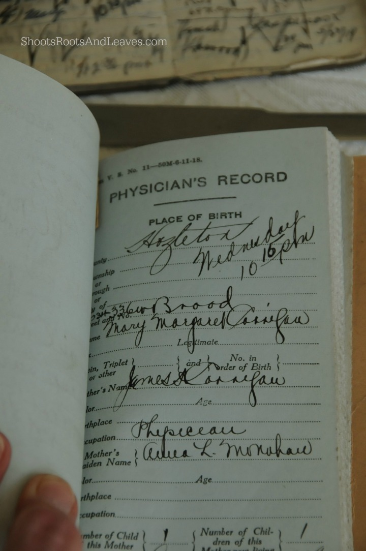 Corrigan State Birth Record