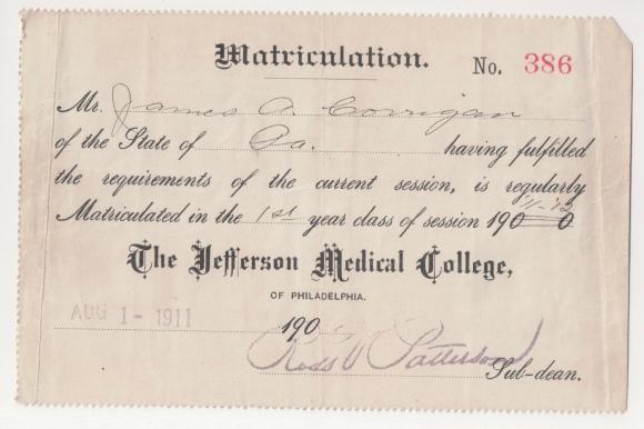 James A Corrigan at Jefferson