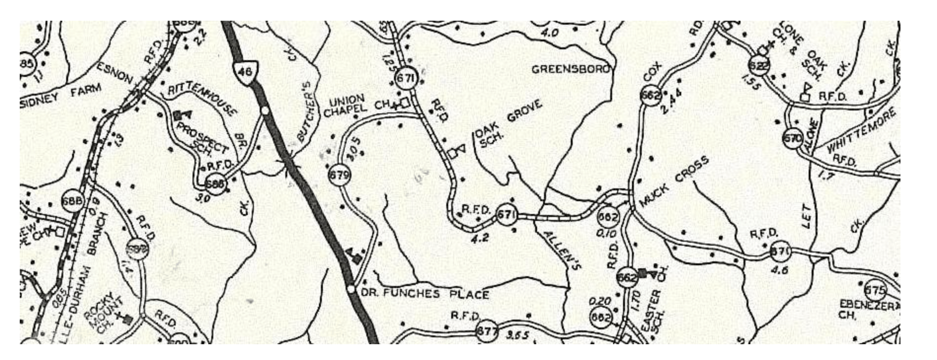 Hunter's Lane, Mecklenburg County, VA 1932